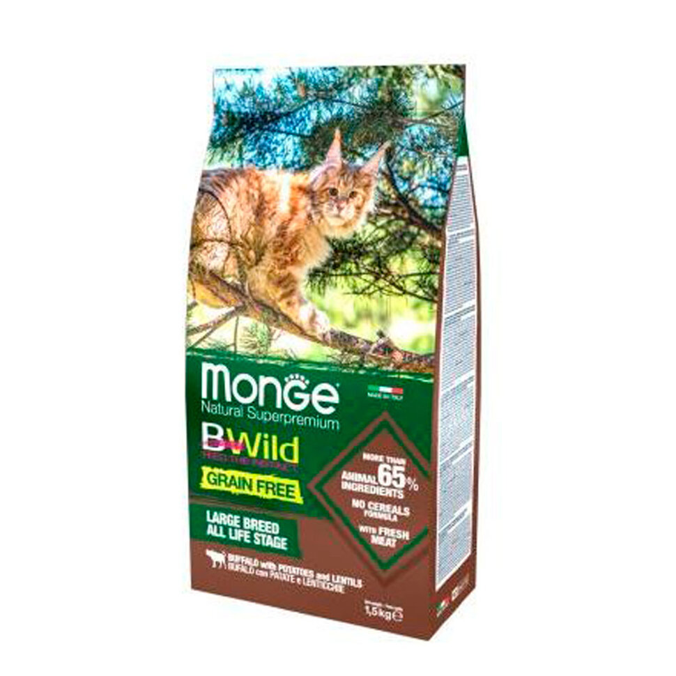 Monge Bwild Cat Large Breed Buffallo фото 1 — ZVERAM.RU